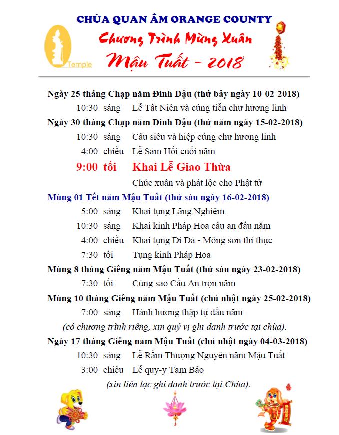 Chuong Trinh Mung Xuan 2018
