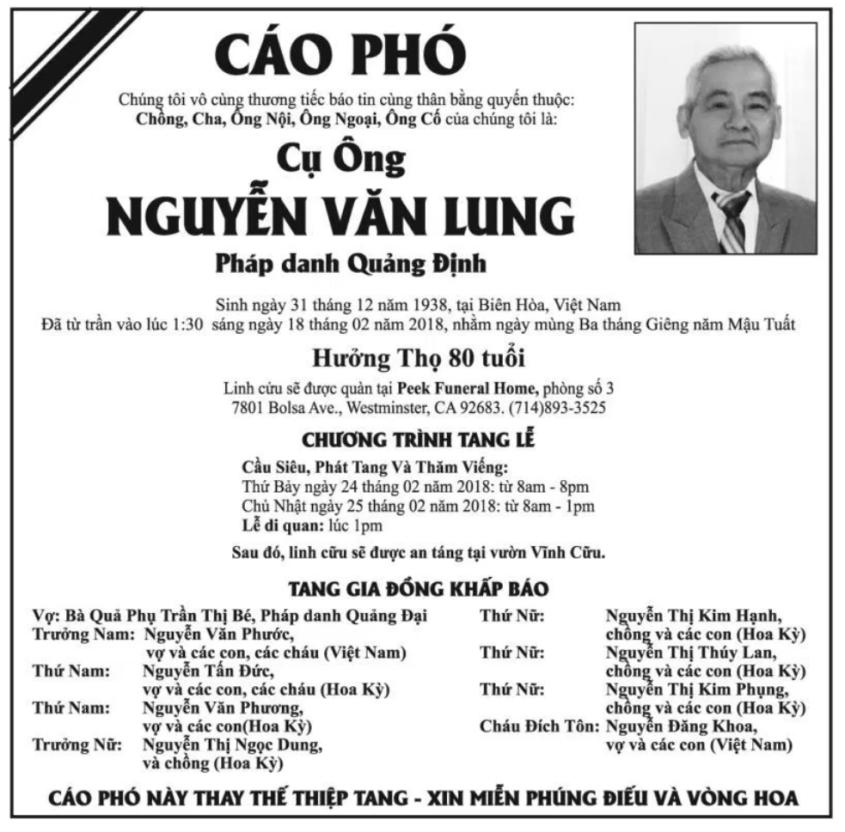 Chương trình Tang lễ phật tử Quảng Định